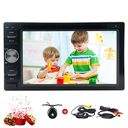 Wireless-R¨¹ckseite-Kamera inklusive! Neue Android Car Stereo 7.1 mit HD 1024 * 600 Multi-Touch Screen Bluetooth Autoradio Support-DVD-CD-Player USB / SD WIFI Internet 3G / 4G OBD2 Radio FM / AM RDS Receiver