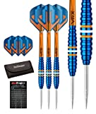Red Dragon Edge: 24g - 90% Tungsten Darts (Steel Dartpfeile) mit Flights, Schäfte, Brieftasche & Red Dragon Checkout Card