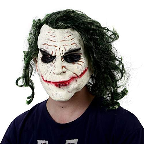 Clown Masken Von The Dark Knight - TINGSHOP Latex Joker Clown Maske, Dark