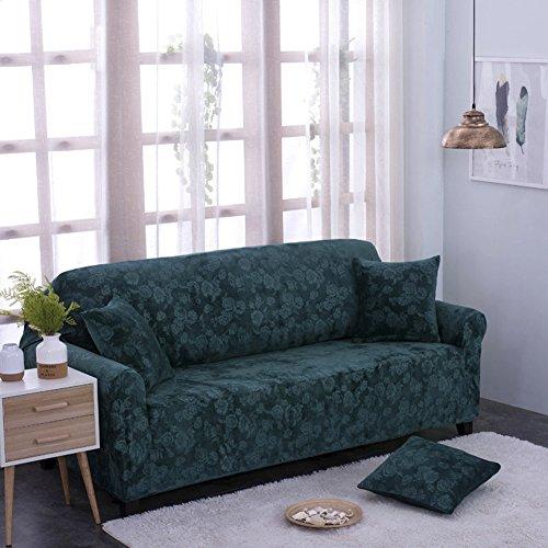 CHEZMAX Soft 1Möbel Couch Bezug Baumwolle Polyester Stuhl Sofa Schonbezug geprägt Überwurf, hunter green, Chair: 35.4