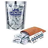 Lapurete's® 50 Bustine da 5 grammi Gel Silice Essiccante Deumidificante + 3 Indicatori di Umidità