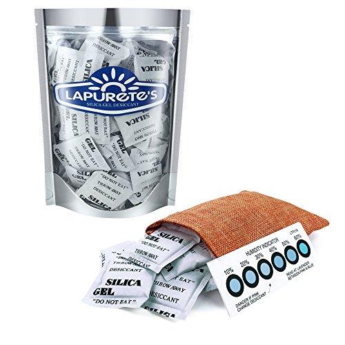 Lapurete \'s ® 5 Gramm 50 Stück Silicagel Pakete Trockenmittel Luftentfeuchter (regenerierbar)