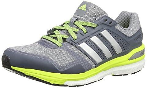 adidas Supernova Sequence Boost 8 Herren Sneaker, Grey (Grey/Silver Metallic/Solar Yellow), Gr. 45 1/3 EU (10.5