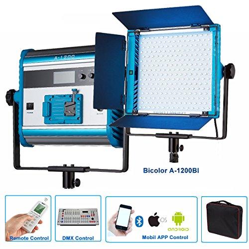 Yidoblo LED Soft Video Light Panel Einstellbar durch DMX / Phone App / Fernbedienung mit Abschirmtüren, kontinuierliche Fotografie Beleuchtung für Fotostudio Video Film Led-video-panel