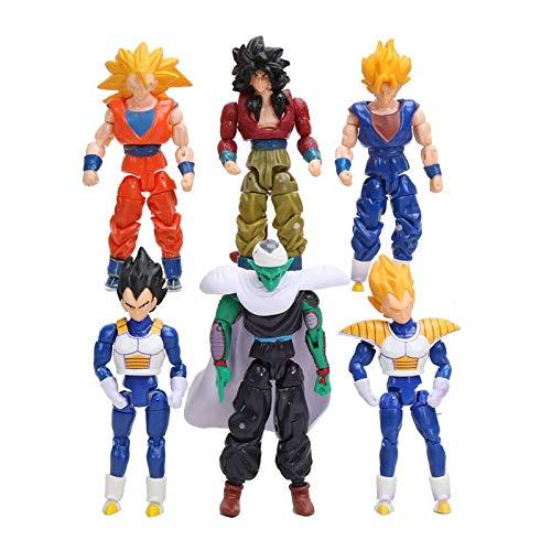 6 Teile/Satz 13 cm Dragon Ball DBZ Goku Vegeta Piccolo Gohan super Saiyan Gemeinsame Bewegliche Dragon Ball Z Action-Figuren Spielzeug