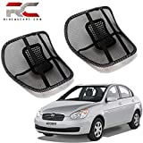 #10: Riderscart Back Rest with Mesh Support for Hyundai Accent Posture Support & Lumbar Support Pillow, Back Pain Support Cushion, Car Cushion