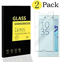 [2-Pack] Sony Xperia X Compact Protectores de Pantalla , MENGGOOD Cristal Películas de Protección Vidrio Templado Film protectora HD Invisible para Sony Xperia X Compact - Dureza 9H Anti-arañazos