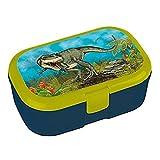 Lunch Box * Impression Dinosaure Plus Nom au Choix * pour Les Enfants de Lutz Mauder//Boîte à Pain avec nom//Idéal pour Garçon//Vesper Boîte à Goûter Boîte à Pain Temps École Jardin D'enfants Dino...
