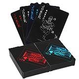 (2 Paquete) OOTSR Impermeables del póker Naipes, Cartas de póker de plástico Herramienta de Cartas magicas clásicas para niños y Adultos Mesa Juegos de Cartas, 54 Piezas/Cubierta
