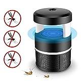 (USB) Mata Mosquitos Interior Electrico, 5W Lámpara Trampa para Insectos con luz LED, Silencioso Control de Insectos Moscas,Sin Productos Químicos (Negro)