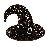 MagiDeal Chapeau Sorcier Socière Motif Etoile Lune en Velours pour Déguisement Halloween