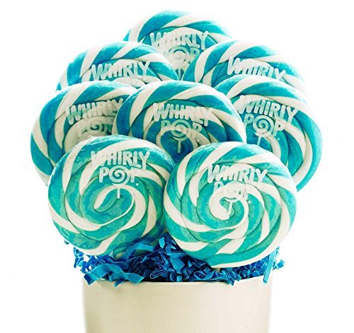 Blue and White Whirly Pops (8) by BirthdayExpress