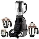 Sunmeet Black Color 1000Watts Mixer Juicer Grinder with 4 Jar (1 Juicer Jar with filter, 1 Large Jar, 1 Medium Jar and 1 Chuntey Jar)