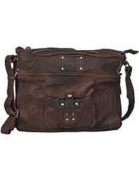 54552f395904d Vilenca Holland Messenger Bag   Umhängetasche   Schultertasche aus echtem  Büffelleder - Unisex - Vintage -