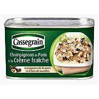 Cassegrain champignons de paris à la crème fraiche 380g - Precio por unidad