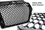 Car-Tuning24 54790079 Tuning A3 8V 2012-16 Wabengrill KühlerGrill Glanz SCHWARZ Mesh Grill S3 S line