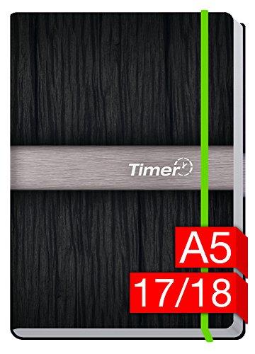 Preisvergleich Produktbild Chäff-Timer Premium A5 Kalender 2017/2018 [Neon grün] 18 Monate Juli 2017-Dezember 2018 - neon Gummiband, Einstecktasche - Terminkalender mit Wochenplaner - Organizer - Wochenkalender