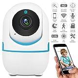 DEFEWAY 1080P Cámara IP WiFi, Cámara de Vigilancia con Visión Nocturna, Audio de 2 Vías, Detector de Movimiento Pan/ Tilt/ Zoom, detección de movimien o llanto de bebé y monitor remoto con aplicaciòn de iOS y Android