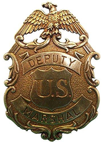 US Deputy Marshal Stern Adler gold Sheriffstern (Sheriff Deputy Kostüm)