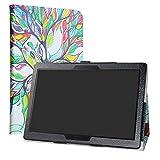 LiuShan Lenovo Smart Tab P10 / M10 hülle, Folding PU Leder Tasche Hülle Case mit Ständer für 10.1