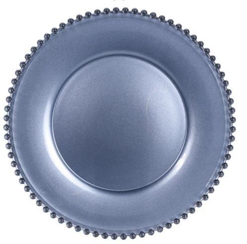 34 cm sans plomb Verre de Cristal Assiette de Assiette de service Argent