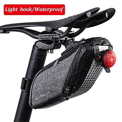 Fahrrad Hecktasche Hinten Tasche Rennrad Satteltasche Fahrrad Reitausrüstung Zubehör mit wasserdichtem Reißverschluss für Mountainbike/MTB/Rennrad/ebike