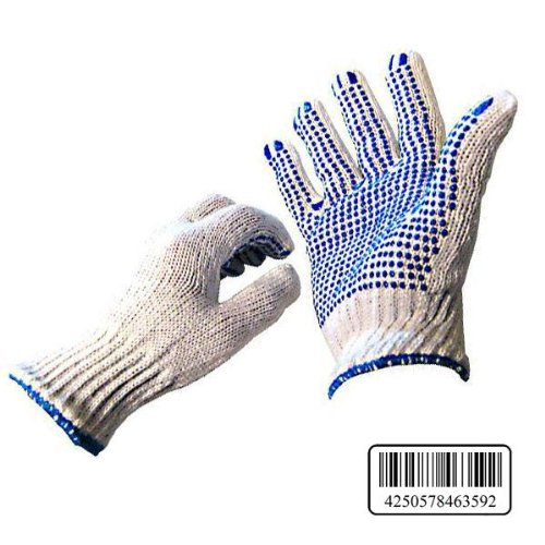60 Paar Arbeitshandschuhe Gr. 10 Noppenhandschuhe Handschuhe Grobstrick Noppen (Pvc-beschichtete Handschuhe Schwarz)