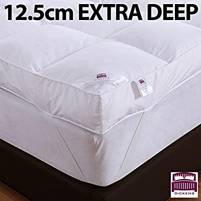 "Dickens Luxury 12.5cm (5"") Extra Deep 100% Goose Feather & Down Mattress Topper 12.5cm produced by Dickens - quick delivery from UK."