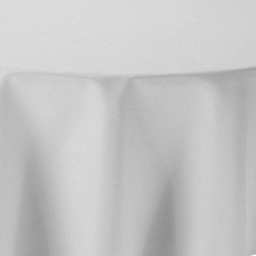 ke Leinen Optik Rund 140 cm Weiss - Farbe , Form & Größe wählbar mit Lotus Effekt - (R140Weiss) (Weiße Runde Tischdecke)