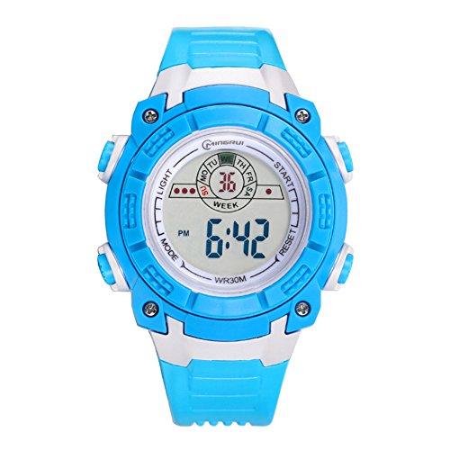 c22e7b389 Niño Relojes electrónicos,30m impermeable Luminoso Calendario Mes de la  semana Corriendo Reloj deportivo Junior Multifunción Jal