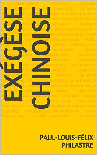 EXÉGÈSE CHINOISE pdf
