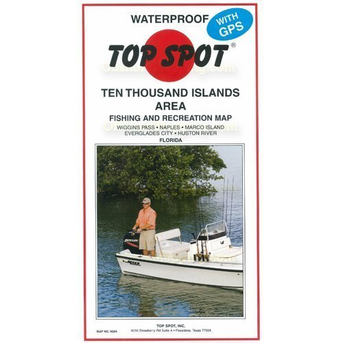 Thousand Islands Florida Area Fishing and Recreation Map by Top Spot ()