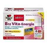 Doppelherz B12 Vita-Energie Trinkfläschchen – Energie und Leistungsfähigkeit für Körper und Geist – Vitamin B12 zur Verringerung von Müdigkeit und Erschöpfung – 8 x 10 ml Fläschchen