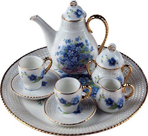 Set completo di 10pezzi Tea miniature China mini ornamento-forget Me