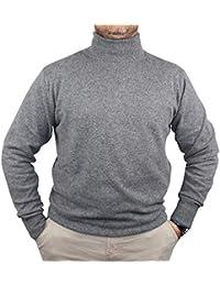 1stAmerican Maglia Dolcevita 100% Cashmere da Uomo - Maglione Manica Lunga  Collo Alto -Pullover di Puro… ad6c28c02fc