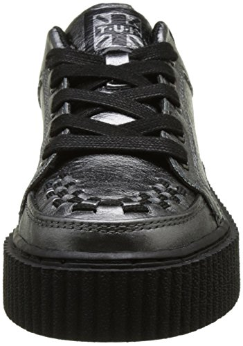 T.U.K. Unisex-Erwachsene Graphite Leath Inter Casbah Creeper Flach Argent (Graphite Metallic Leather)