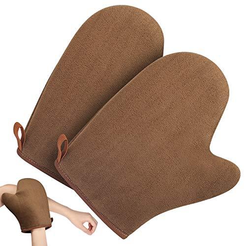 Self tanning mitt tan mitt - guanto applicatore autoabbronzante, pamiyo guanto per l'applicazione autoabbronzante spruzzo per viso e corpo, soffice, delicato e riutilizzabile
