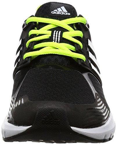 adidas Unisex-Kinder Duramo 8 Turnschuhe Schwarz (Core Black/Footwear White/Solar Yellow)