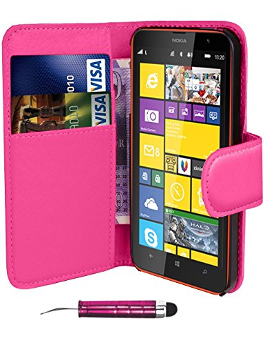 pink-side-leather-flip-wallet-slim-case-cover-pouch-with-card-holder-for-nokia-lumia-520-and-stylus-
