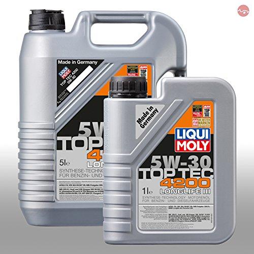 Preisvergleich Produktbild LIQUI MOLY TopTec 4200 5W-30 Motoröl 1x 1L 3706 & 1x 5L 3707
