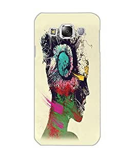 SAMSUNG GALAXY E5 MUSIC GIRL Back Cover by PRINTSWAG