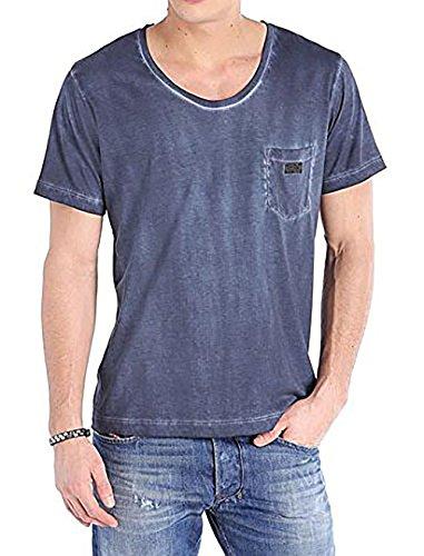 Diesel Herren T-Shirt Rundhals Kurzarm T-Kurrilos Blau