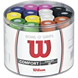Wilson Lot de Surgrips, Bowl Overgrip, 50 pièces, Couleurs assorties, WRZ404300