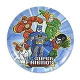Lot de 4DC Super amis Flash, Batman, Robin, Aquaman, Super Chien Mélamine Assiettes 20,3cm