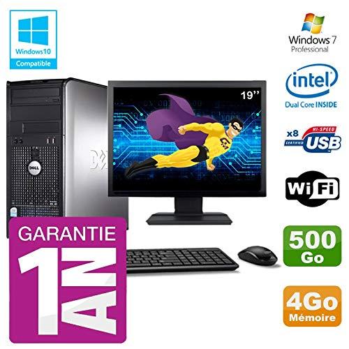 Dell PC 780 Desktop-Bildschirm 19 Zoll Intel E5800 RAM 4 GB Festplatte 500 GB DVD-Brenner WiFi W7 (780-desktop Dell)