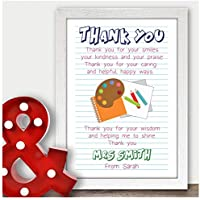 Personalised Teaching Assistant Thank You Gifts for TA, Nursery Teacher Gifts - Thank You Gifts for Teachers, Teaching Assistants, TA, Nursery Teachers - ANY RECIPIENT - A5, A4, A3 Prints and Frames