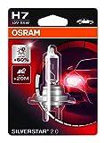 OSRAM SILVERSTAR 2.0 H7, Halogen-Scheinwerferlampe, 64210SV2-01B, 12V PKW, Einzelblister (1 Stück)
