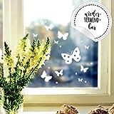 Fensterbild Schmetterlinge Set -WIEDERVERWENDBAR- Fensterdeko Frühling Fensterbilder Osterdeko M2348 ilka parey wandtattoo-welt®