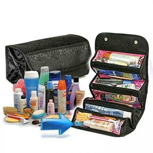 Romino Black Roll N Go Travel Buddy Cosmetic Bag (35789)
