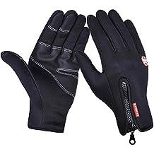 IKuaFly Guanti Inverno Windstopper Cerniera Touch Screen Crossfit Black Gloves
